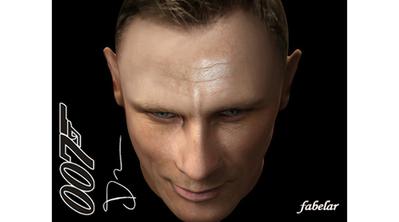 Daniel Craig en 3D   3D Library   Scoop.it