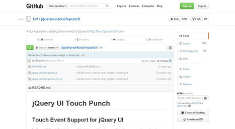 Best jQuery Libraries for Handling Touch Events | Code Geekz | Jquery mobile + Phonegap: how make a mobile app and website | Scoop.it