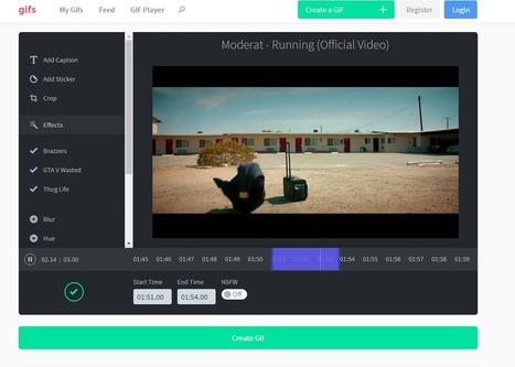Gifs.com : créer et éditer un GIF simplement à partir de n'importe quelle vidéo - Blog du Modérateur | Pense pas bête : Tourisme, Web, Stratégie numérique et Culture | Scoop.it