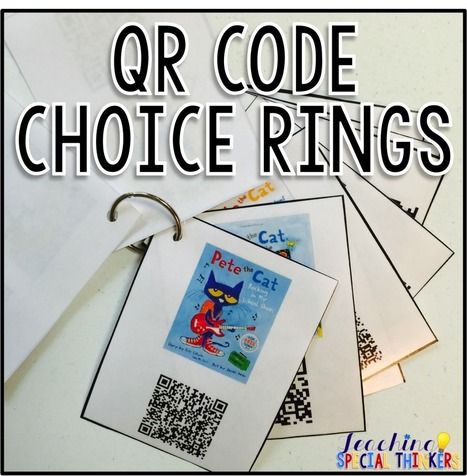 Teaching Special Thinkers: QR Code Choice Ring {Tutorial} | Reading Literacy, Informational Text and School Libraries | Scoop.it