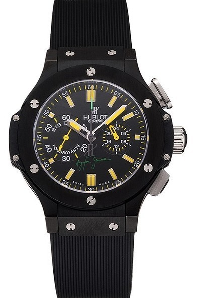 4b38b39fbd3 Replica Hublot Big Bang Foudroyante Ayrton Senna Black Dial Womens Watch