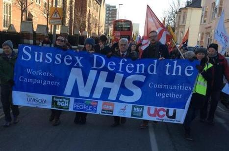 Hundreds line streets of Brighton in defence of the NHS | nhswatch | Scoop.it
