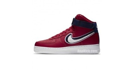 3786eab4513c2a Nike AF1 Air Force One 1 Red Blue High  07 LV8 Shoes 806403-603