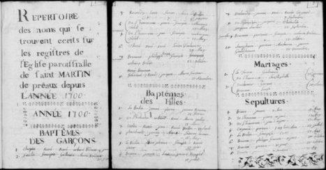 [recherches généalogiques] Aborder les registres paroissiaux (1)   Yvon Généalogie   Genéalogie   Scoop.it