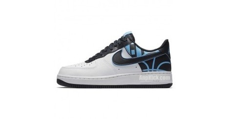 408382c02c49cc Nike Air Force 1 Low Logo Pack  07 Lv8 White Navy Black 823511-105