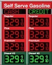 Led Price Sign for Gas Stations Change My Gasoline Prices over the