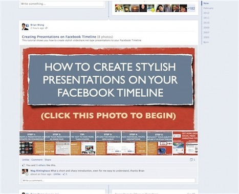 How to Create Stylish Presentations on Facebook Timeline Pages | E-Learning and Online Teaching | Scoop.it