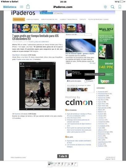 Cómo guardar una página web en PDF [Truco iPad y iPhone]   iPad classroom   Scoop.it