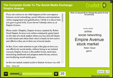 Summarize The Content of Any Web Page with Cruxbot | Kevin I Mills | Scoop.it