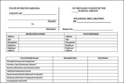Financial Declaration Form | Divorce Family Law Scoop It