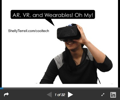 Augmented Reality, Virtual Reality and Wearables for Learning! Oh My! – Teacher Reboot Camp | Transliteracy Network | Transliteracy | Scoop.it
