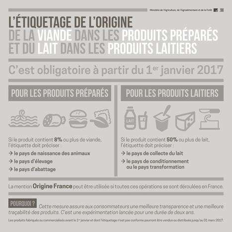 Infographie : l'étiquetage de l'origine de la viande dans les produits préparés et du lait dans les produits laitiers   Alim'agri   Alimentation Santé Environnement   Scoop.it
