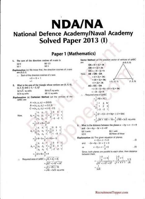 Pdf paper previous with nda year question answers
