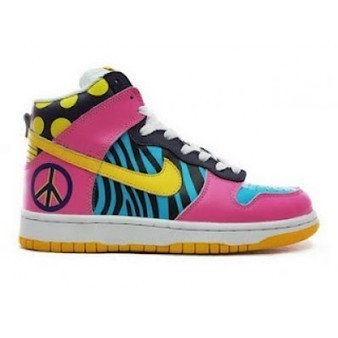 263acd9f02f8 Rainbow High Tops Nikes Funky Town Dunk Cheap B...