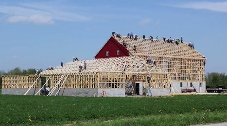 Mesmerizing Amish Barn Raising Time-Lapse Captures the Incredible Power of Team Work | Cooperation Theory & Practice | Scoop.it