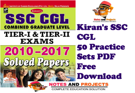 SSC CGL Practice Set Kiran Publication PDF Free