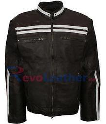 Mens New Leather Jacket Blue Wax Motor Biker and Cafe Racer Stylish Jacket