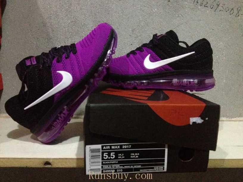 9106fa8cc30c5 New Coming Nike Air Max 2017 KPU Purple Black W...