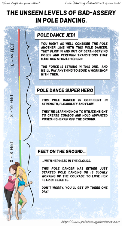 Pole Dancing Adventures (PDA) - The Original Webcomic Series: How high do you dare? | Pole Dance Italy | Scoop.it