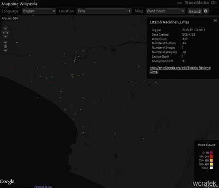Mapping Wikipedia, mapa interactivo de la enciclopedia Wikipedia | Woratek | Noticias, Recursos y Contenidos sobre Aprendizaje | Scoop.it