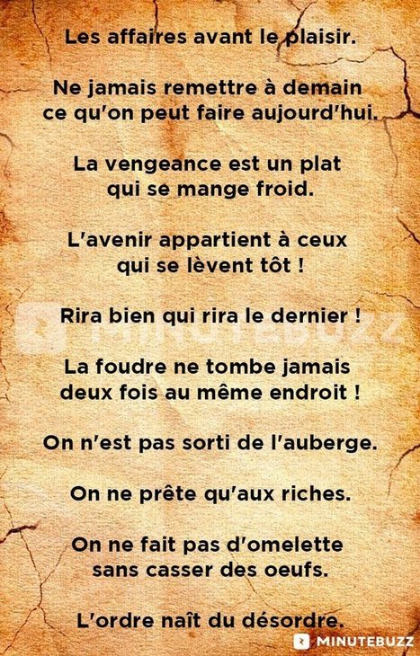 TOP des dictons français les plus connus   Remue-méninges FLE   Scoop.it