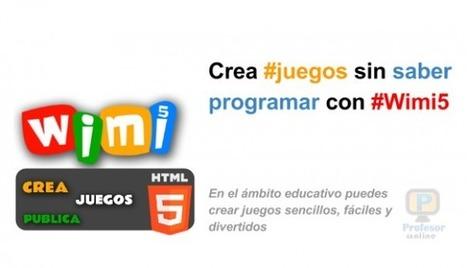 Crea #juegos sin saber programar con #Wimi5 | Profesoronline | Scoop.it