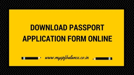 Download Passport Application Form Online At Pa