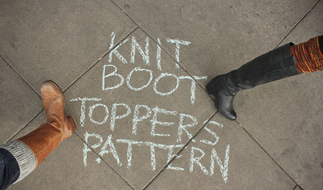 Tutorial Knit Boot Topper Pattern Needle And