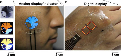 This tattoo-like display is made possible by a new ultra-thin protective 'E-skin' | Random Things of Interest | Scoop.it