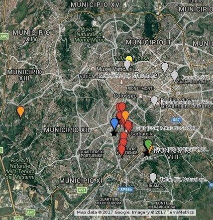 ROME STREET ART MAP - 999CONTEMPORARY / C21 Project | metrobodilypassages | Scoop.it