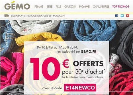 Super Bon Plan 10 euros offerts à partir de 30 euros d achats sur Gémo  (nouvelle collection) d170ab7f2d10