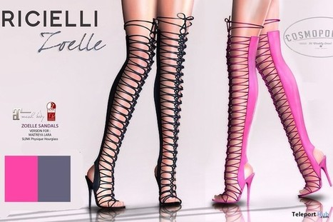 8db5e09a8e85 Zoelle Over The Knee Heels Black   Pink 1L Promo Gift by R.icielli