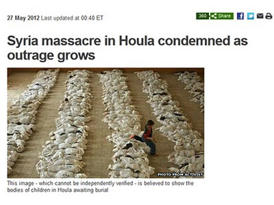 Oops, BBC: Iraq photo to illustrate #Houla massacre? #Syria  — RT | The greatest weapon is not a gun. Nor it is nuclear. It is information control | Scoop.it