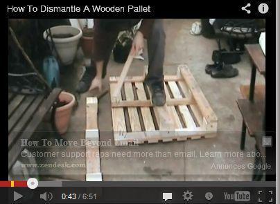 comment d monter une palette en bois v. Black Bedroom Furniture Sets. Home Design Ideas