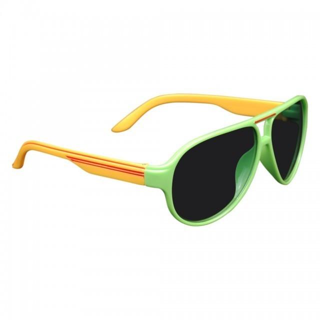 d1f37e0ed Rainbow Kids A2024-5 Green Black Yellow Classic Aviator Trendy Sunglasses