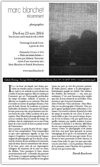 Marc Blanchet - Récemment - Galerie Herzog, 157 rue Saint Martin, Paris 10e. Du 6 au 23 novembre | Livres photo | Scoop.it