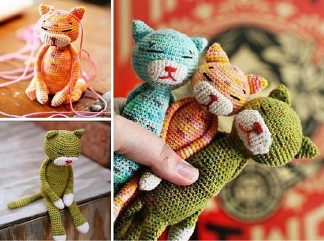 pattern of crocheted Cat with diagram (Amineko) | 347x467