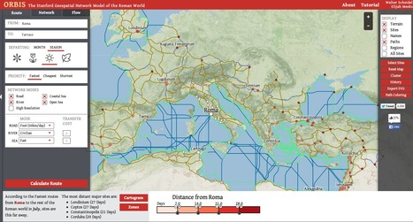 ORBIS: The Stanford Geospatial Network Model of the Roman World | HISTORY RESEARCHER | Scoop.it
