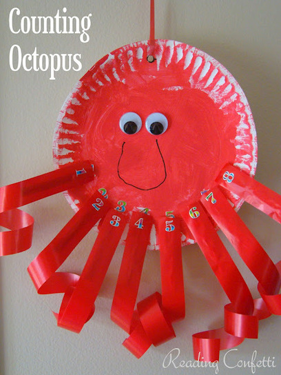 Reading Confetti: Counting Octopus {Clothespin Craft} | Jardim de Infância | Scoop.it