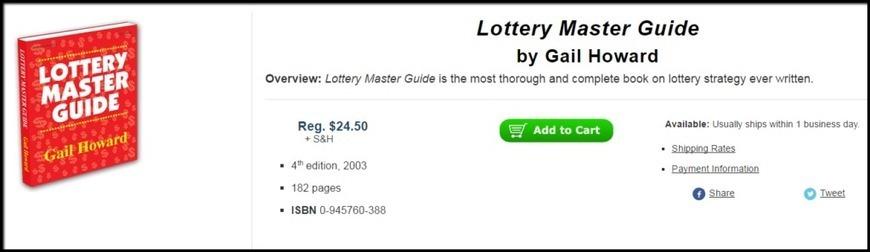 lottery master guide by gail howard pdf inste rh scoop it Gail Howard Lottery Winning Systems lottery master guide by gail howard ebook