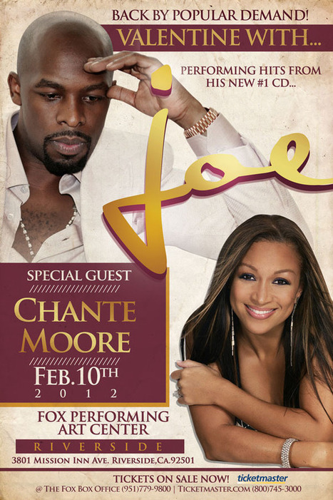 Joe with special guest Chante Moore...Back by Popular Demand @ the Fox - URBAN LYFESTYLES | Today's Transmedia World | Scoop.it