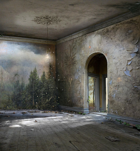 Photomontages That Trace Light Through Overgrown Countrysides and Abandoned Interiors... | Art for art's sake... | Scoop.it