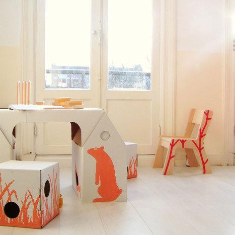 { Today I ♥ } Les bureaux d'enfants en carton design et pas cher ! | Immobilier | Scoop.it
