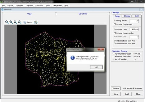 Earthwork Calculation Software   Survey Drawing