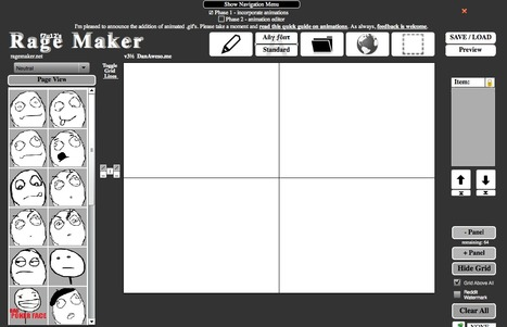Dan Awesome's Rage Maker - create a comic in simple steps | Digital Delights - Avatars, Virtual Worlds, Gamification | Scoop.it