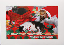 Cat Christmas Card: Why Santa Doesn't Have Cats   Deborah Julian Art   Christmas Cat Ornaments and Cards   Scoop.it