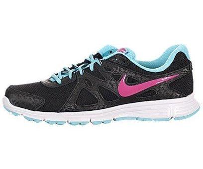 84e3495816 Nike Women's Revolution 2 Black/Vvd Pink/Plrzd Bl/White Running Shoe 8.5 Women  US