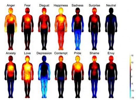 These heat maps reveal where we feel love, anger, shame & sadness on our bodies | media psych | Scoop.it