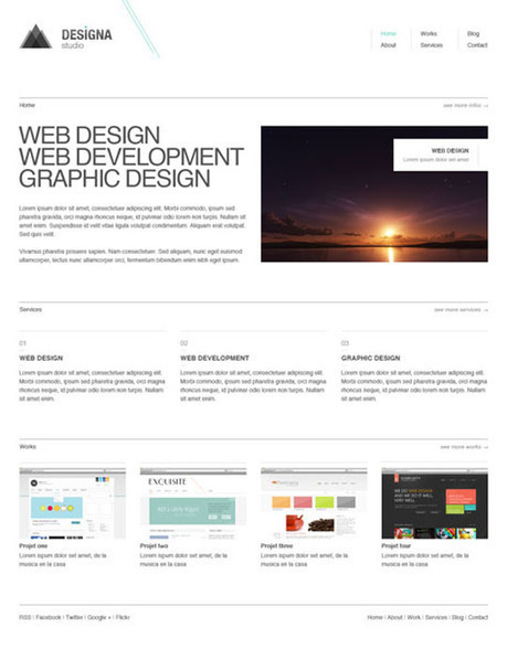 25 Free Minimal and Clean Style XHTML/CSS Websi...