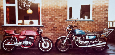 """Suzuki GT500 Cafe Racer and GT750 """"kettle"""" 